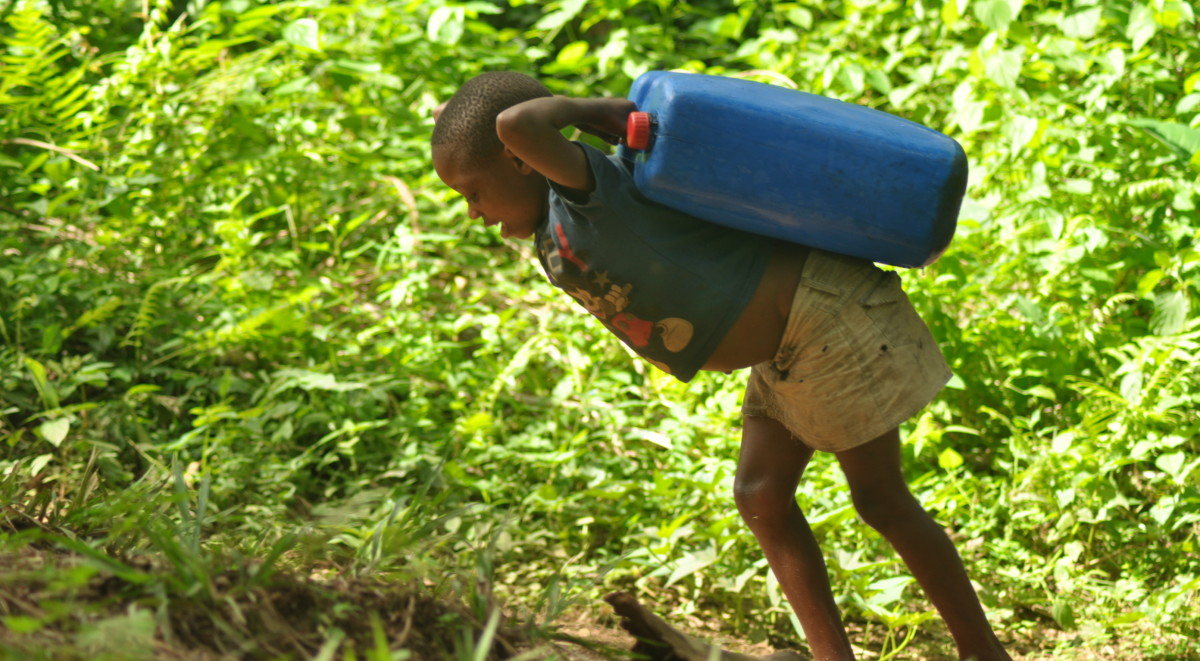If you had to carry all of your water, would you shower as much?