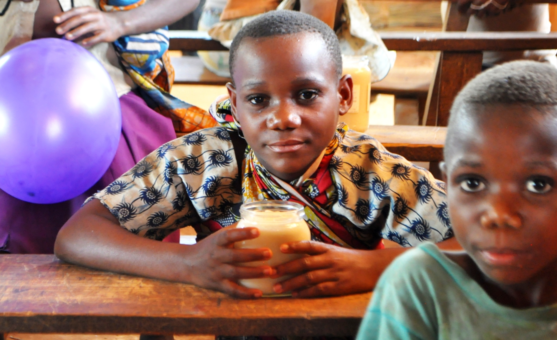 Internally Displaced Pygmies in Mbau School May 2015